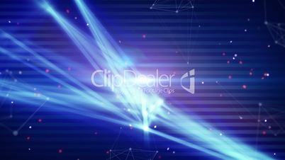 technology network light stripes loop background
