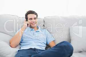 Man having a phone conversation