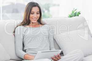 Pretty woman using a tablet