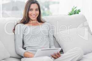 Beautiful woman using a tablet