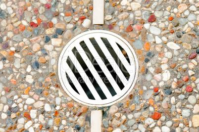 Outdoor drain in decking