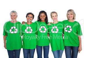 Team of female environmental activists