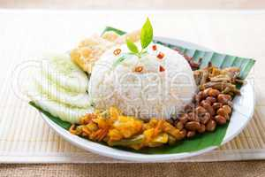 Malay food nasi lemak