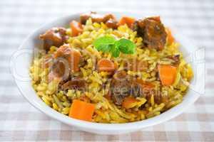 Arabic mutton rice.