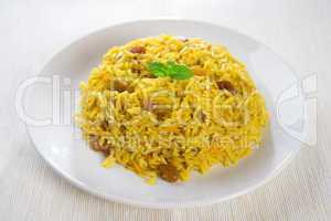 Arabian rice kabsa