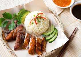 Delicious Singapore chicken rice.