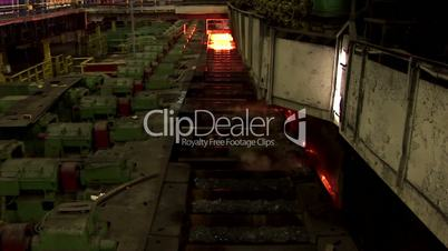 Conveyor line of a metal rolling mill.