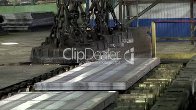 Electric overhead crane at the Steel Mill