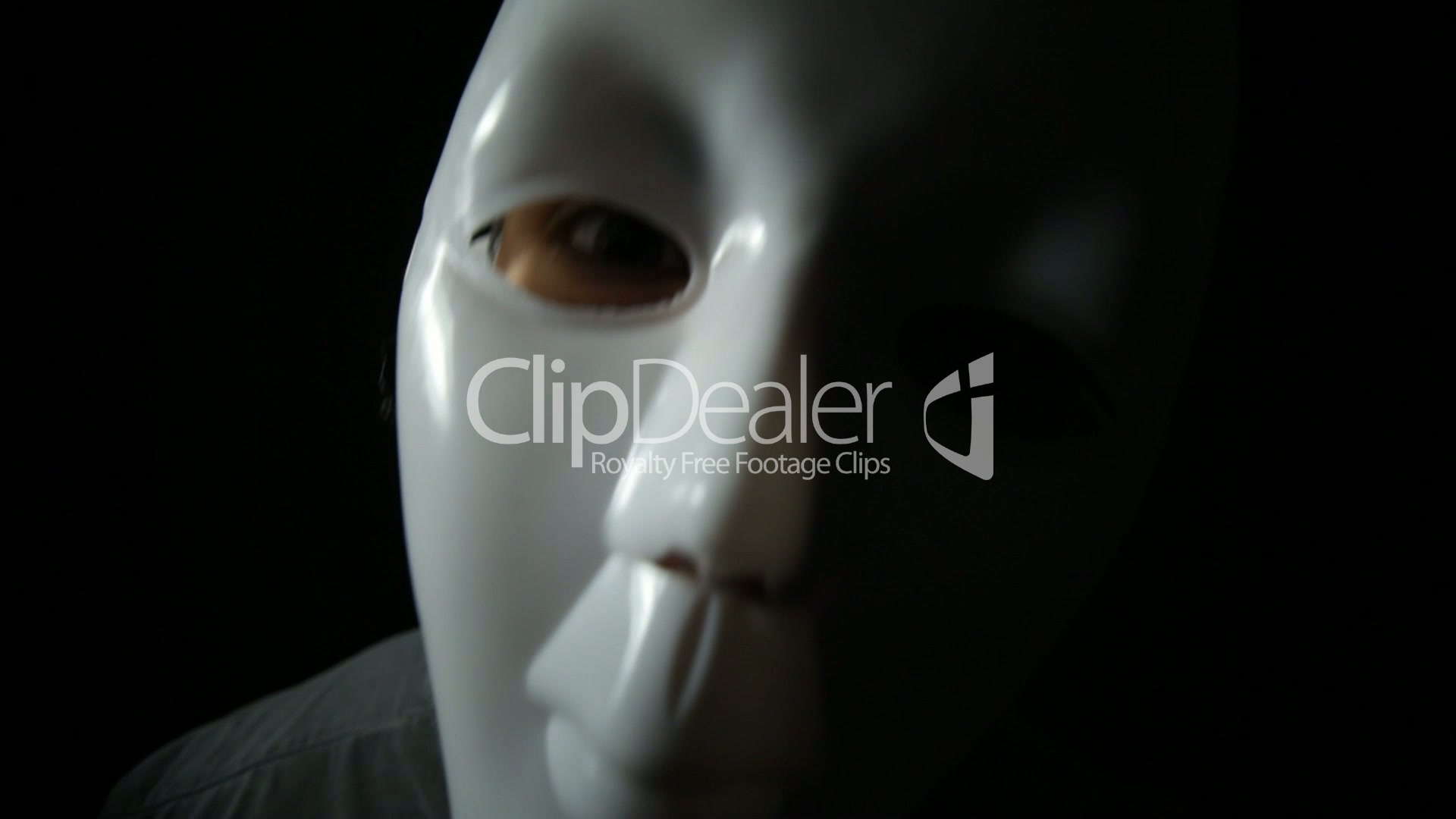 Funny masked man: Royalty-free video and stock footage