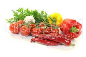 frisches buntes mediterranes Gemüse