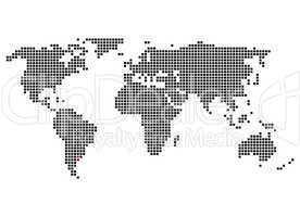 Weltkarte mit Markierung von Buenos Aires