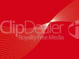 Roter Hintergrund mit weißen geschwungenen Linien
