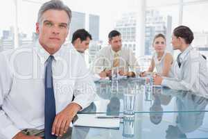 Serious businessman in a meeting