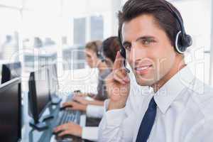Portrait of a confident call center agent