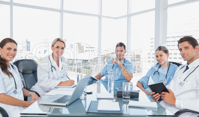 Medical team in a bright meeting room