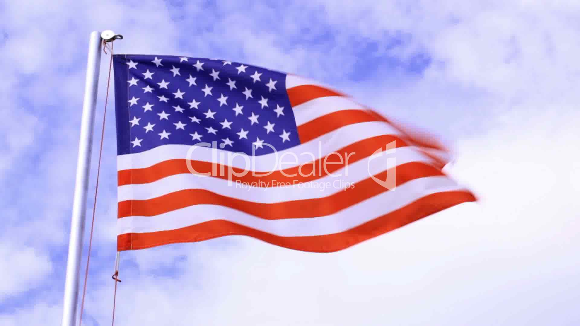 American flag waving in the wind video