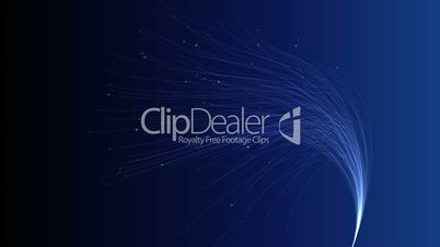 Fiber Optic Blue Background With Colorful Tips