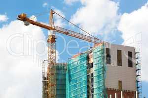 crane and construction site.