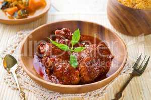 Indian chicken biryani rice