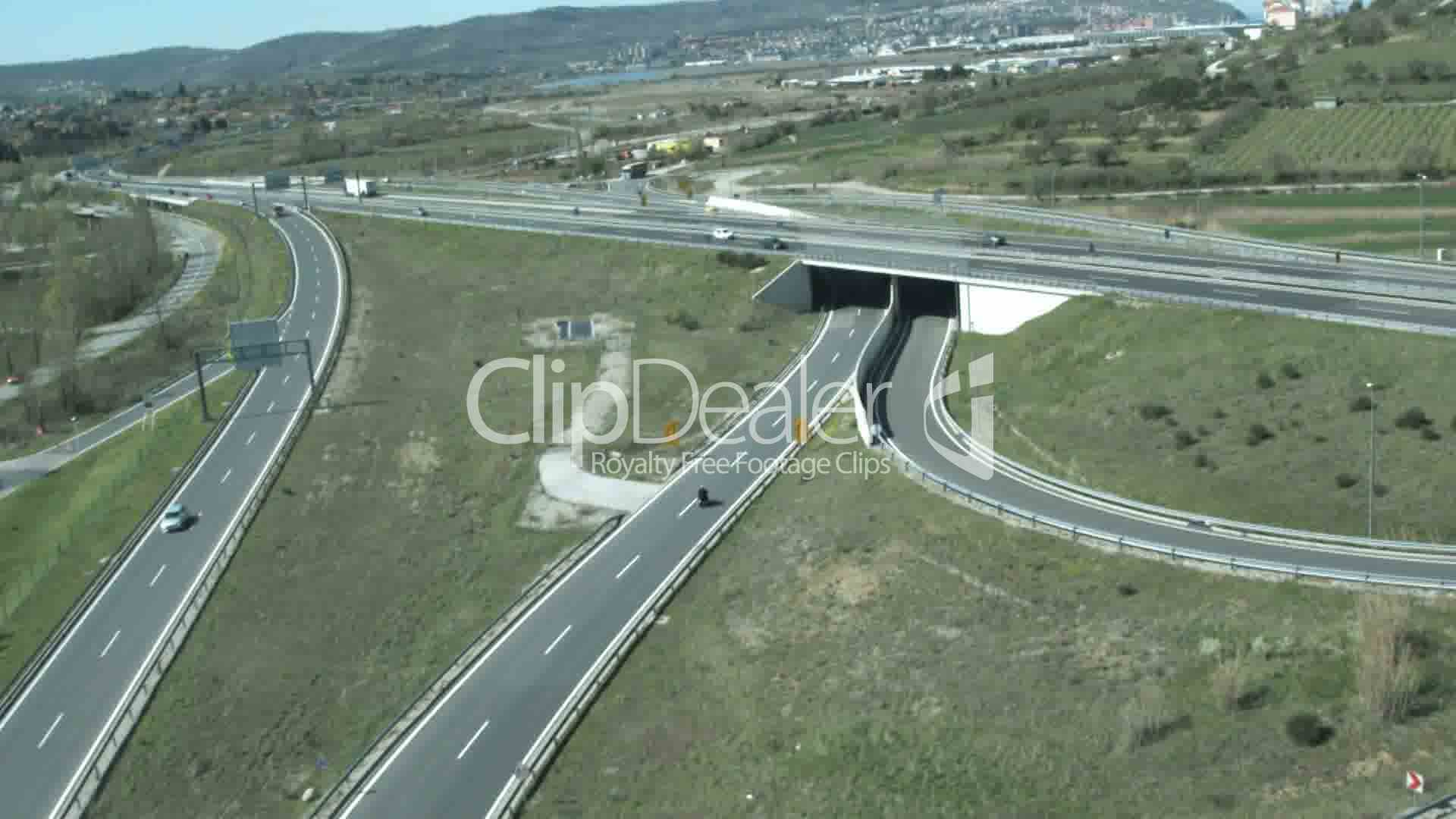 Highway flyover: Royalty-free video and stock footage