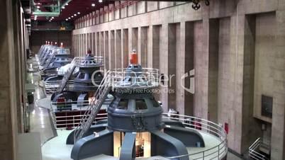 hydroelectric generator room
