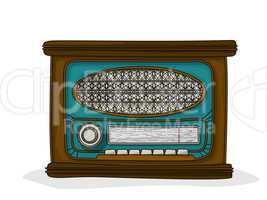 retro cartoon radio