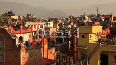 Sunny morning in Kathmandu, Nepal.