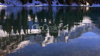Reflection in clear water.