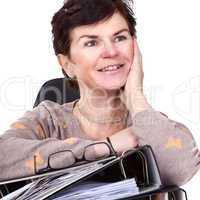 Friendly office woman