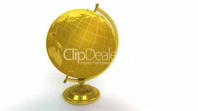 Gold globe spins, stops at North America