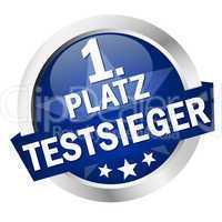 """button mit banner """" 1. platz testsieger """""""