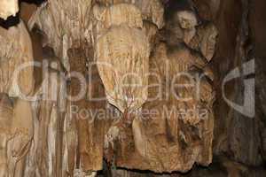 Stalactite cave Mamin's on the Karabi plateau in a Crimea