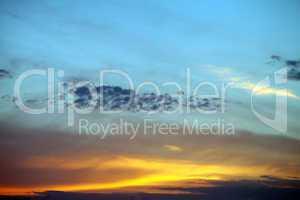 multicolor sunset sky