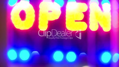 """neon sign """"OPEN"""""""