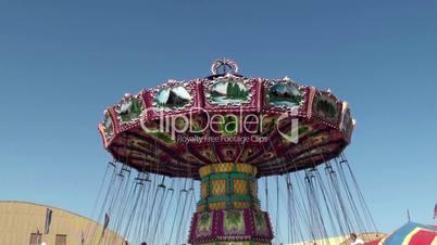 Amusement rides at Ventura County Fair 2012. California, USA.