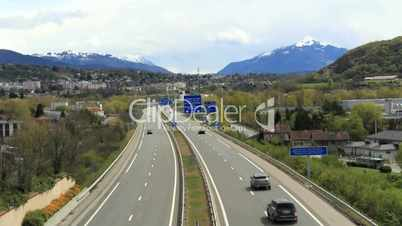Highway to the alps