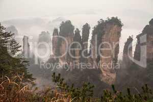 Zhangjiajie mountains.