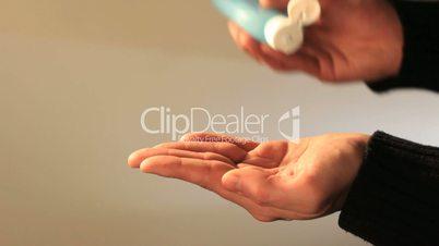 Hands sanitizing
