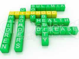 3d illustration concept of childhood health