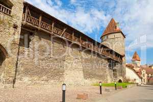 Medieval wall. Tallinn, Estonia