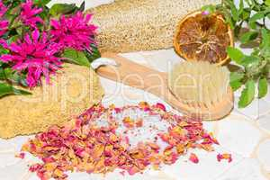 Luxury aromatic bathing accessories