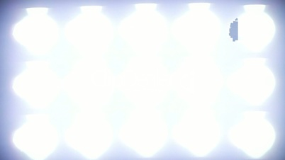 Bright Floodlights Flashing.