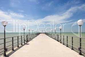 pier on the coast of the Sea