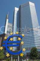 european central banking house in frankfurt