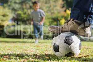 Child running for the football