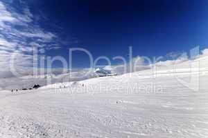 ski slope in sunny day