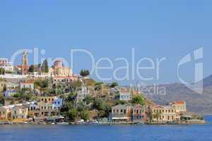 Einfahrt in den Hafen von Symi, Griechenland