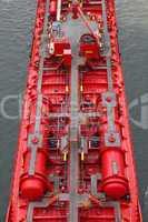 Details eines Tankschiffs