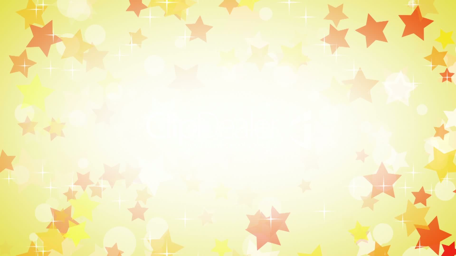 Yellow Stars Frame Loop Background Royalty Free Video And