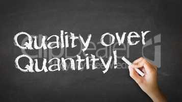 Quality over Quantity Chalk Illustration